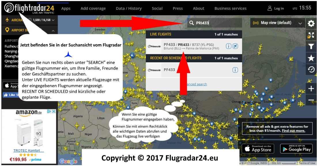 Flightradar24 Deutsch Anleitung 2