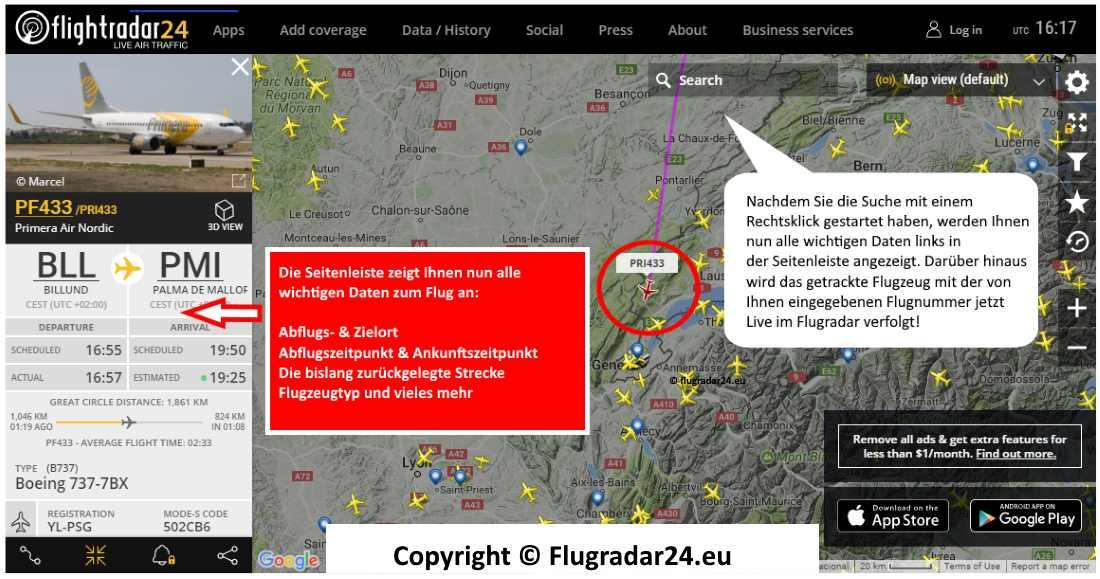Flightradar24 Deutsch Anleitung 3